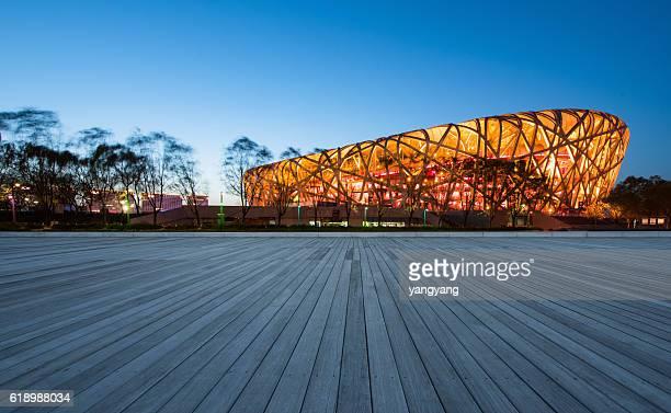 beijing olympic sports center - stadio olimpico nazionale foto e immagini stock