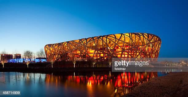 Beijing Olympic Stadium by night