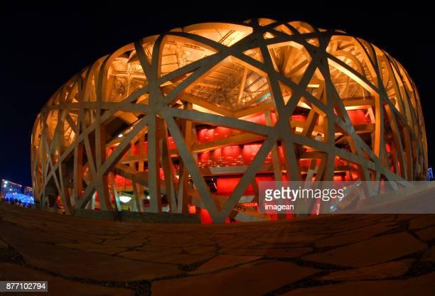 stadio olimpico di pechino. - stadio olimpico nazionale foto e immagini stock