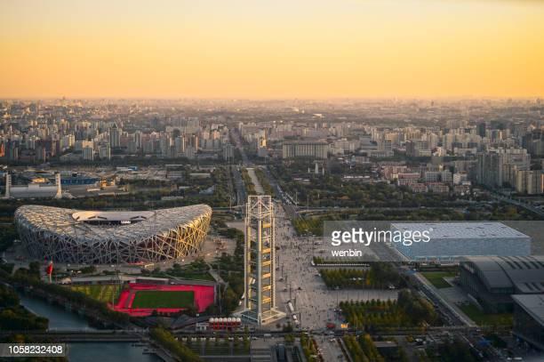 beijing olympic stadiumt - stadio olimpico nazionale foto e immagini stock