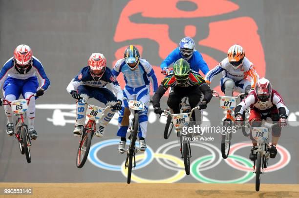 Beijing Olympics, Cycling : Bmxbaltzersen Henrik , Phillips Liam , Bennett Kyle , Marino Ramiro , Prokop Michal , Nhlapo Sifiso , Van Der Biezen...