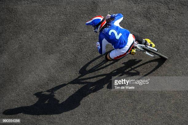 Beijing Olympics, Cycling : Bmxillustration Illustratie, Chausson Anne Caroline , Walker Sarah , Shadow Hombre Schaduw, Women Vrouwen, Laoshan Bmx...