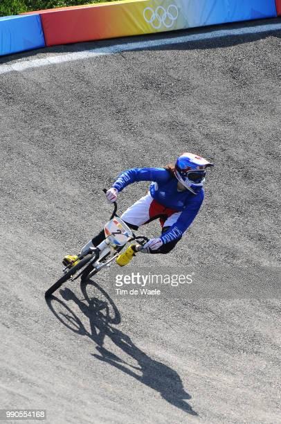 Beijing Olympics, Cycling : Bmxillustration Illustratie, Chausson Anne Caroline , Shadow Hombre Schaduw, Women Vrouwen, Laoshan Bmx Venue, Olymische...