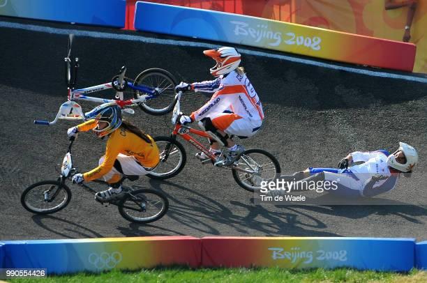 Beijing Olympics, Cycling : Bmxillustration Illustratie, Crach Chute Val Reade Shanaze , Klaus Lieke , Callisto Nicole , Women Vrouwen, Laoshan Bmx...