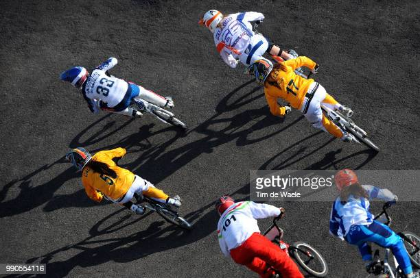 Beijing Olympics, Cycling : Bmxillustration Illustratie, Klaus Lieke , Kintner Jill , Madill Luke , Callisto Nicole , Hodi Aniko , Dutto Maria Belen...