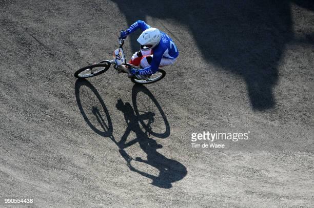 Beijing Olympics, Cycling : Bmxillustration Illustratie, Le Corguille Laetitia , Shadow Hombre Schaduw, Women Vrouwen, Laoshan Bmx Venue, Olymische...
