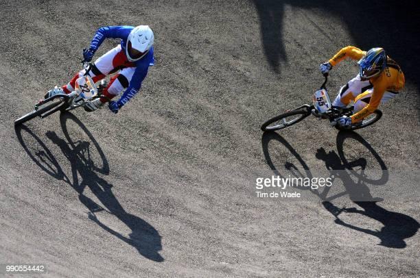 Beijing Olympics, Cycling : Bmxillustration Illustratie, Le Corguille Laetitia , Kintner Jill , Shadow Hombre Schaduw, Women Vrouwen, Laoshan Bmx...