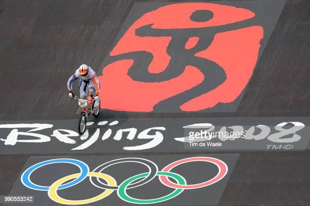 Beijing Olympics, Cycling : Bmxillustration Illustratie, Start Departure, Van Der Biezen Raymon , Logo Olympic Beijing 2008, Men Mannen, Laoshan Bmx...