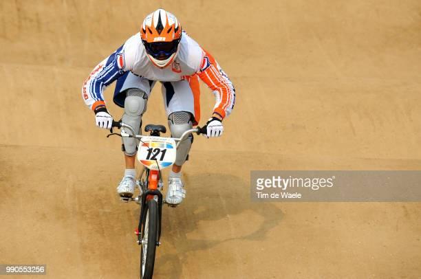 Beijing Olympics, Cycling : Bmxvan Der Biezen Raymon , Men Mannen, Laoshan Bmx Venue, Olymische Spelen, Jeux Olympique, Tim De Waele