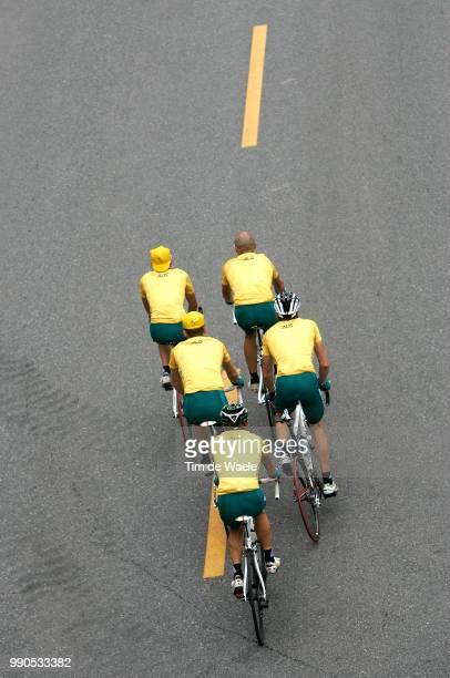 Cycling Road Training Illustration Illustratie Team Australia Cadel Evans Simon Gerrans Stuart O'Grady Michael Rogers Matt Lloyd Entrainement Route...