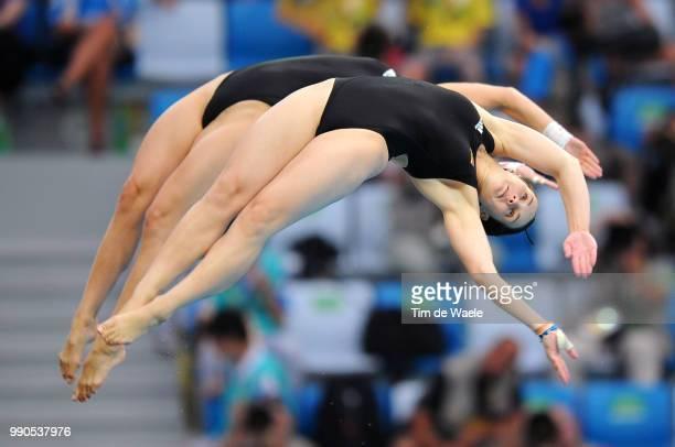 Diving Womens Synchronised 10M Final Annett Gamm Nora Subschinski Team Germany /Femmes Vrouwen Natation Diving Plongeon Duiken Olymische Spelen Jeux...