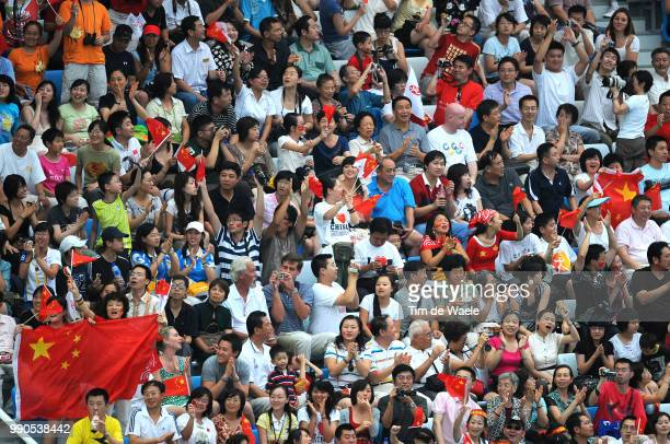 Diving Womens Synchronised 10M Final Chinese Public Spectators Publiek /Femmes Vrouwen Natation Diving Plongeon Duiken Olymische Spelen Jeux...