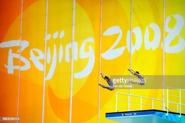 Diving Womens Synchronised 10M Final Xin Wang Ruolin Chen Team China Gold Medal /Femmes Vrouwen Natation Diving Plongeon Duiken Olymische Spelen Jeux...