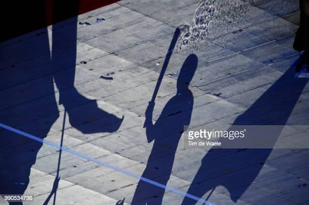 Opening Ceremonyillustration Illustratie, National Stadium Stadion, Birdsnest, Olympic Flame Vlam Flamme, Silhouet Shadow Hombre Schaduw /Olymische...
