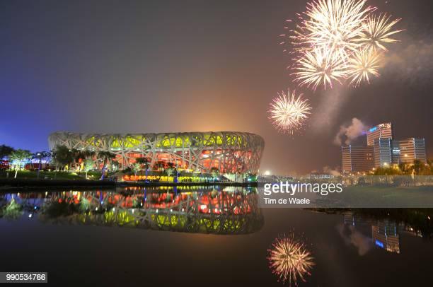 Opening Ceremonyillustration Illustratie, National Stadium Stadion, Birdsnest, Fireworks Feux D'Artifice Vuurwerk, Olymische Spelen, Jeux Olympique...