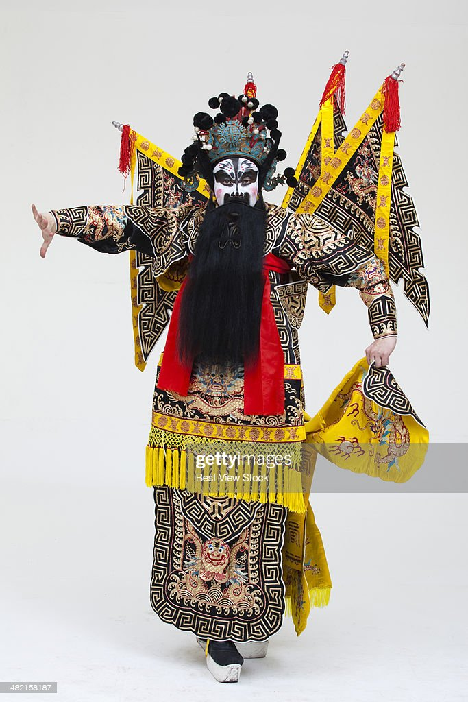 beijing opera actor dancing : Stock Photo