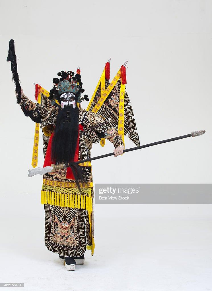 beijing opera actor dancing : Stock Photo