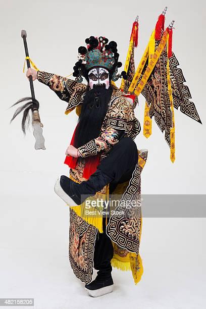 beijing opera actor dancing - peking opera stock photos and pictures