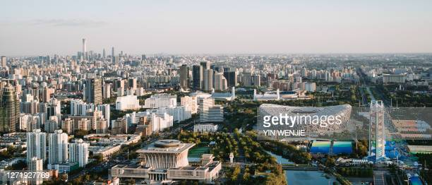 beijing - stadio olimpico nazionale foto e immagini stock