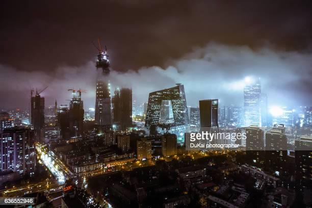 beijing rain fog - beijing stock pictures, royalty-free photos & images