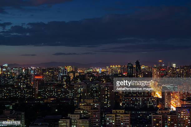 Beijing Residential Area Cityscape at Night