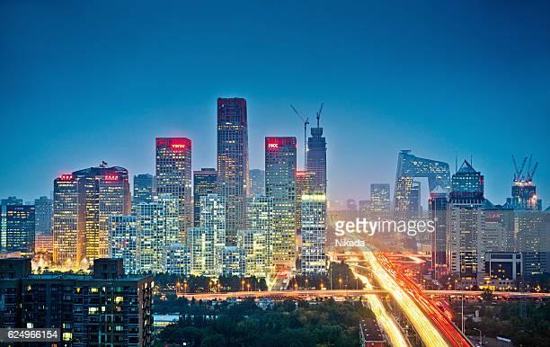 skyline von Peking, China