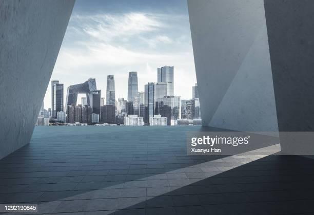beijing skyline - peking stock-fotos und bilder