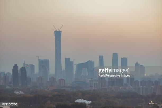 Beijing Smog at Sunset