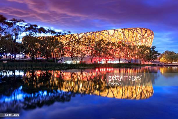 beijing stadium, china - stadio olimpico nazionale foto e immagini stock
