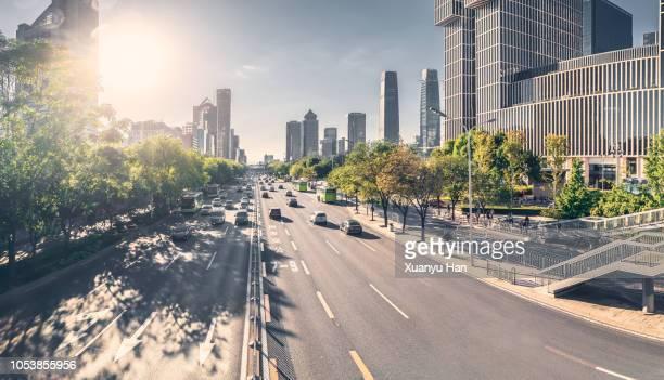 beijing street view - verkehrswesen stock-fotos und bilder