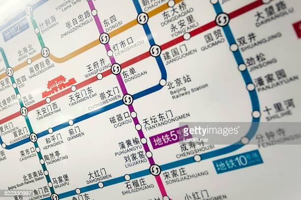 Beijing subway network map