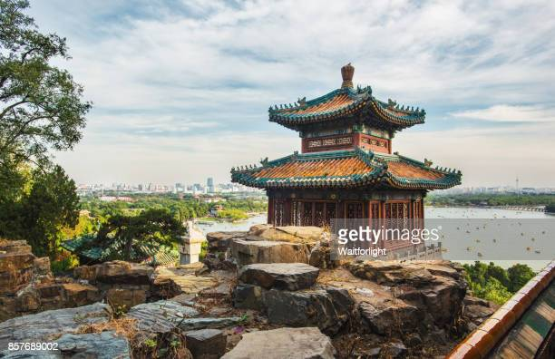 beijing summer palace scenery - beijing province stock photos and pictures