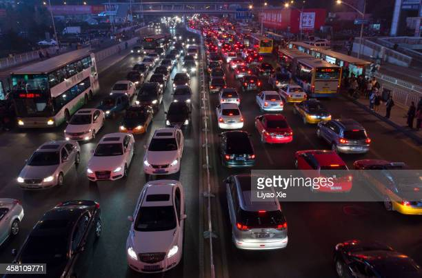 beijing traffic jam - liyao xie stock pictures, royalty-free photos & images