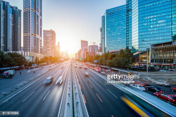 beijing traffic sunset - latin america stock pictures, royalty-free photos & images