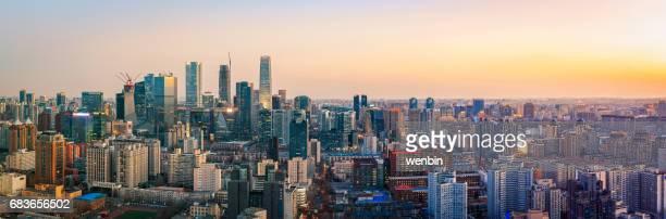 Beijing Urban Skyline at Dusk
