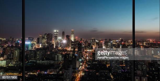 Beijing Urban Skyline at Night