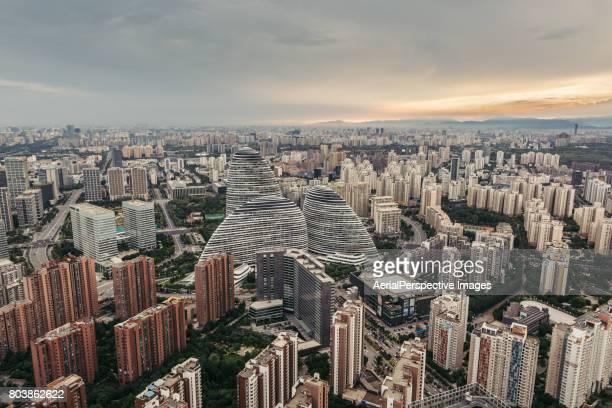 Beijing Urban Skyline at Sunset