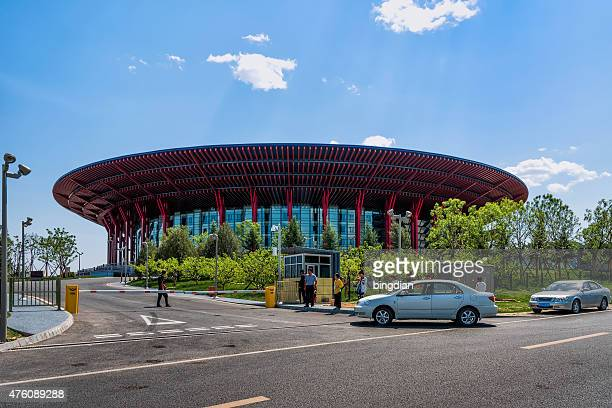beijing yanqi international exhibition center - tokyo big sight stock photos and pictures