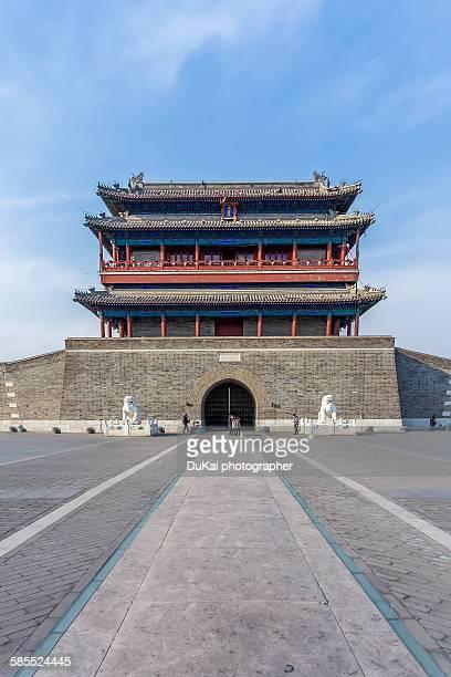 beijing yongdingmen gate - porta cittadina foto e immagini stock