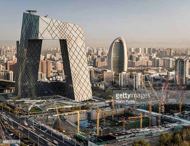 Beijing,CCTV tower and construction site