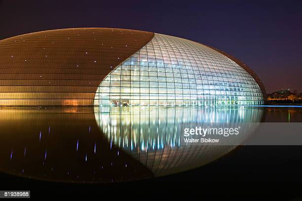 beijing-tiananmen square: national center of performing arts - performing arts center stock pictures, royalty-free photos & images