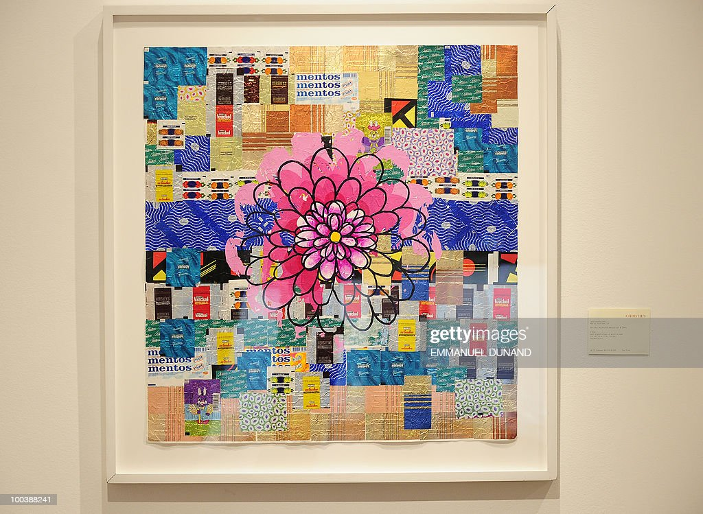'O Beijo' by Beatriz Milhazes is on display during a preview of Christie's Latin American Art auctions, May 24, 2010 in New York. Christie's will hold its Latin American Art auctions on May 26 and 27, 2010. AFP PHOTO/Emmanuel Dunand