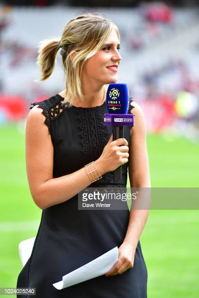 BeIN Sport tv presenter Margot Dumont during the Ligue 1 match between Lille and Guingamp on August 26, 2018 in Lille, France.