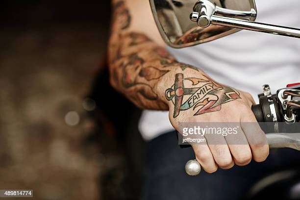 being a biker - masculinity stock pictures, royalty-free photos & images
