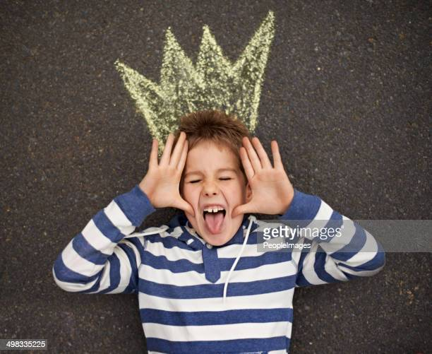 being a silly billy! - king royal person stock photos and pictures