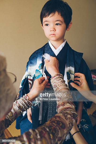 being dressed in hakama - peter lourenco stock pictures, royalty-free photos & images