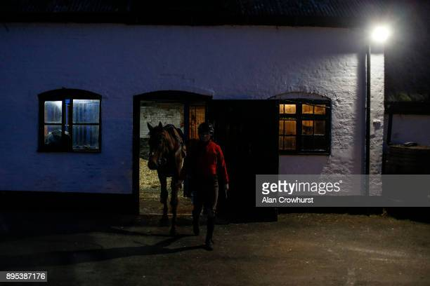 Being led out for morning exercise at Nicky Hendersons Seven Barrows stables on December 19 2017 in Lambourn United Kingdom