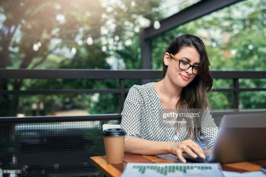 Being productive outside of the office : Stock Photo