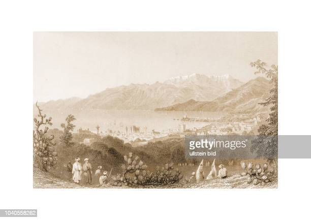 Beirout and Mount Lebanon1837 Engraved by HAdlard after a picture by WHBartlett published in Syria The Holy Land Asia Minor c Illustrated London and...