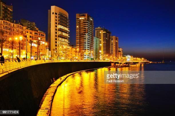Beirut city corniche